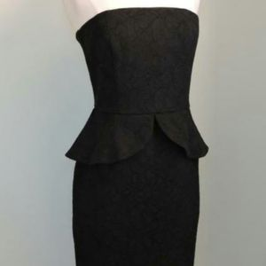 White House Black Market black lace strapless sz 2